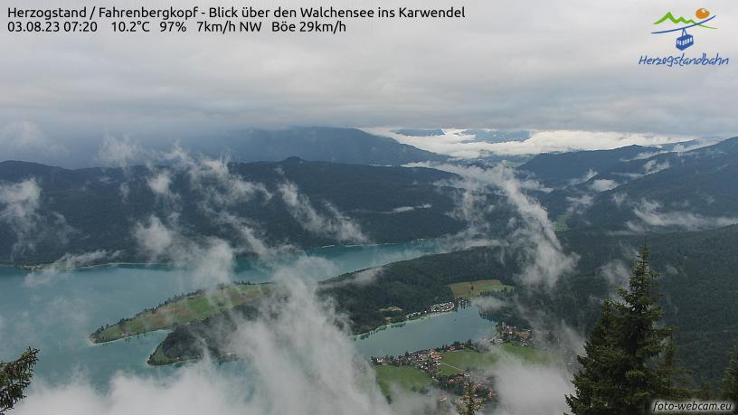 Webcam Skigebiet Walchensee - Herzogstand Oberbayern