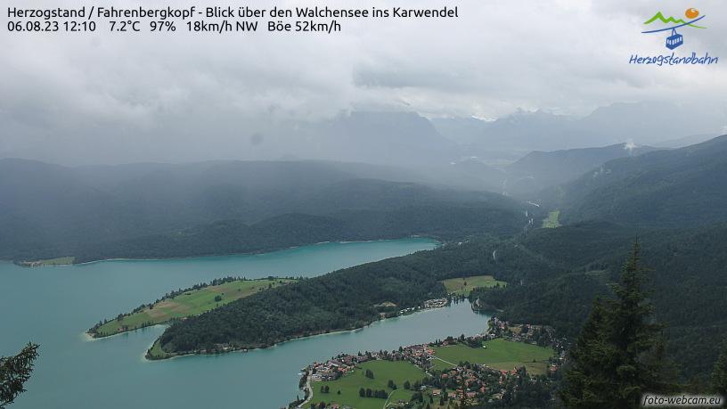Webcam Skigebied Walchensee - Herzogstand cam 2 - Alpen Oberbayern