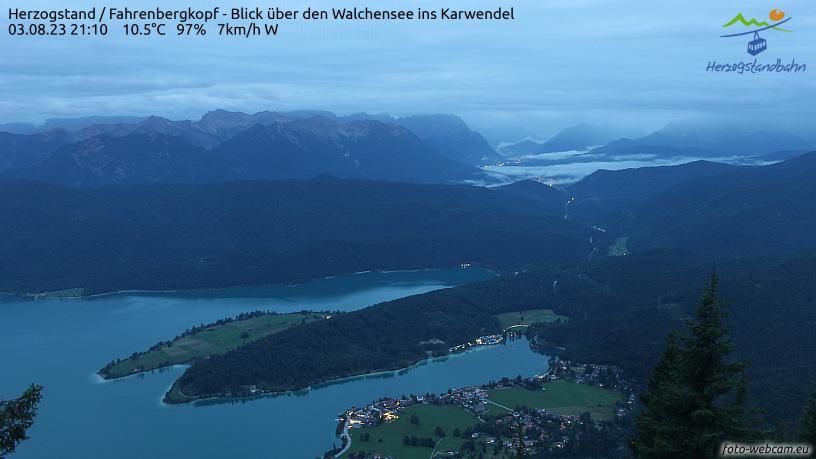 Webcam Ski Resort Walchensee - Herzogstand cam 2 - Bavaria Alps - Upper Bavaria