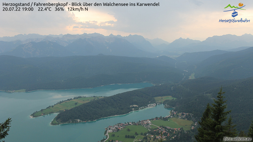 Webcam Skigebiet Walchensee - Herzogstand cam 3 - Oberbayern