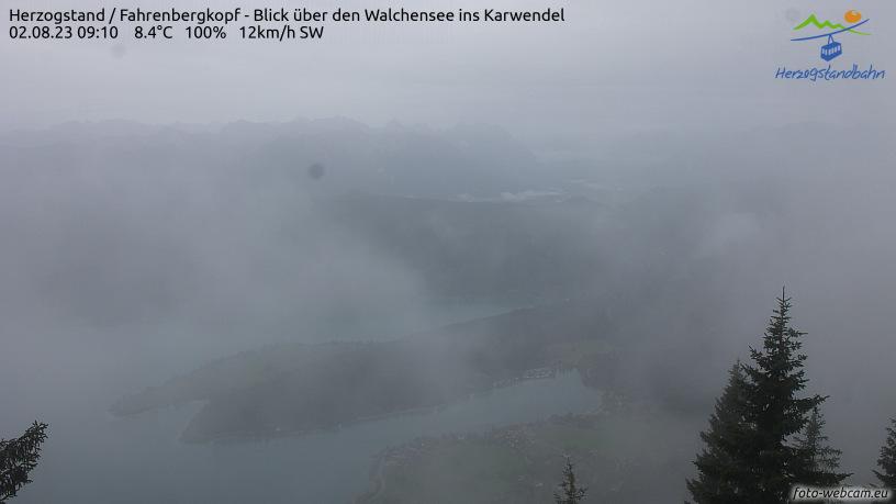 Webcam Skigebiet Walchensee - Herzogstand cam 2 - Oberbayern